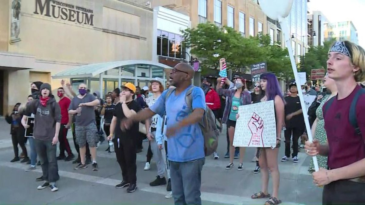 Day 2 of protests in Madison against the killing of George Floyd (Source: WMTV)