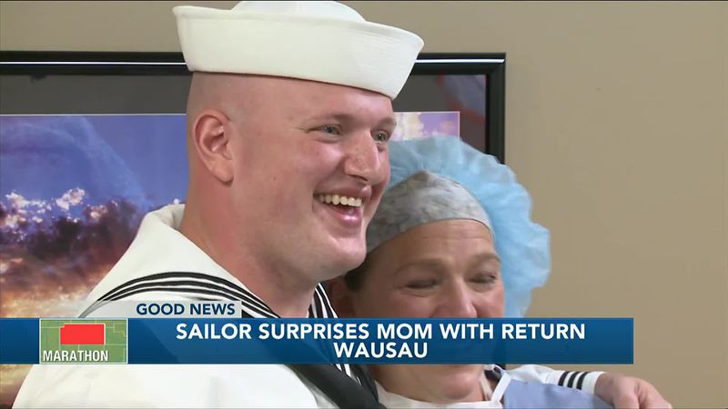 Sailor surprises mom with return home
