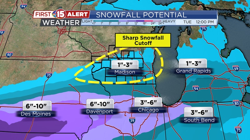 Snowfall Potential Monday-Tuesday