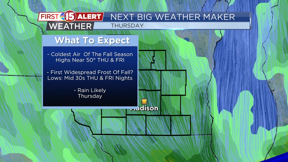 Next Big Weather Maker - Strong cold front Thursday