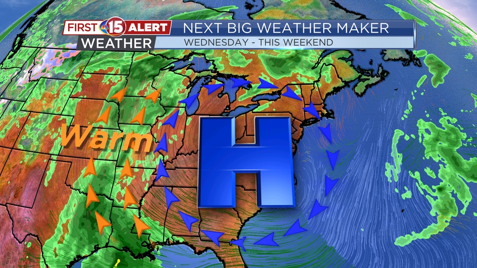 Next Big Weather Maker - Summer-like weather by the end of the week