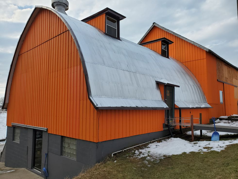 With its bright orange siding, the Toy Train Barn is hard to miss on Highway 81 in Argyle