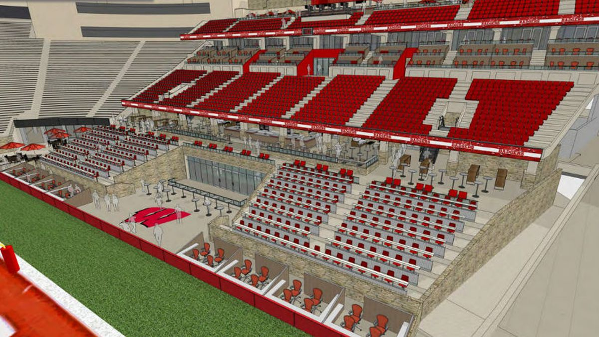 Rendering for the South End Zone at Camp Randall. (Image: UW Athletics)