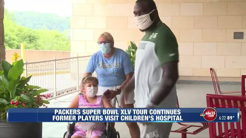 Members of the Green Bay Packers Super Bowl XLV winning team continued their tour across...