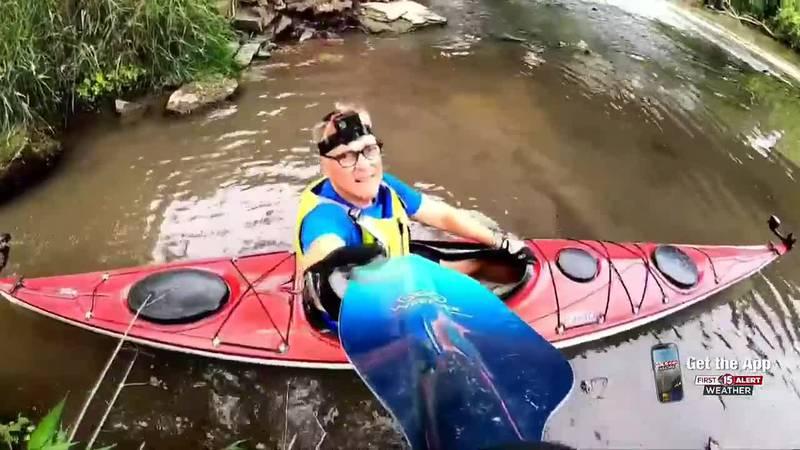 "Exploring Wisconsin: John Stofflet paddles ""The Pec"" through Darlington"