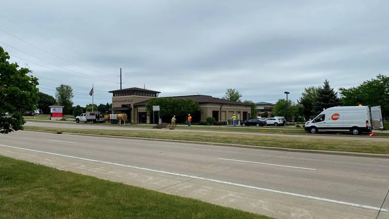 Sun Prairie emergency crews respond to a report of a gas leak.
