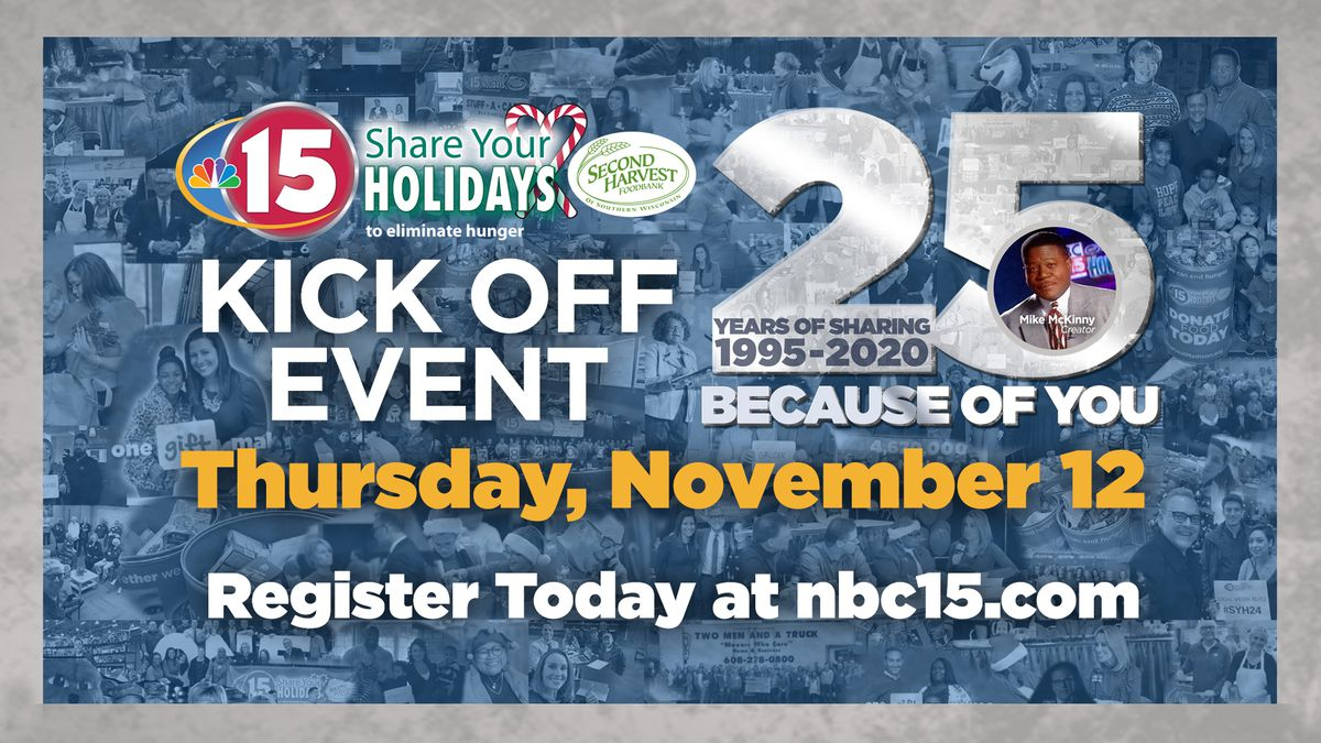 Kickoff event for NBC15 Share Your Holidays 2020