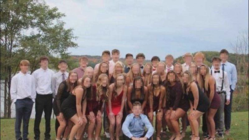 A photo of 32 DeForest high school students attending a party on Oct. 3