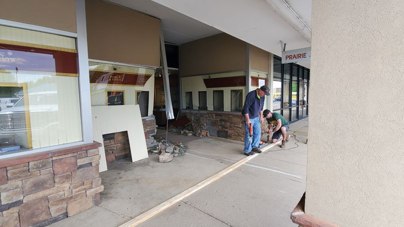 A vehicle crashed into a Sun Prairie jewelry store Friday.