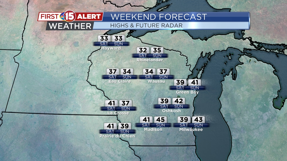 Wisconsin Weekend Forecast - Highs