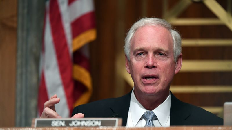 Sen. Ron Johnson, R-Wis., speaks during a Senate Homeland Security and Governmental Affairs...