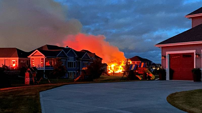 Fire crews are responding to a housefire Monday morning in Middleton.