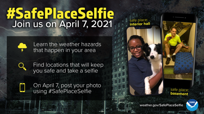 Safe Place Selfie Day helps prepare for severe weather season