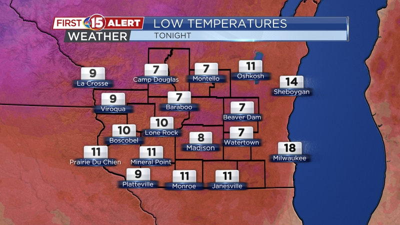 Skies will be partly cloudy -- allowing temperatures in some spots to cool into the single...