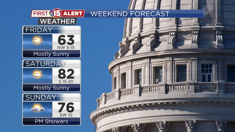 Highs will reach the 80s for the first time this year on Saturday. Rain chances increase by...