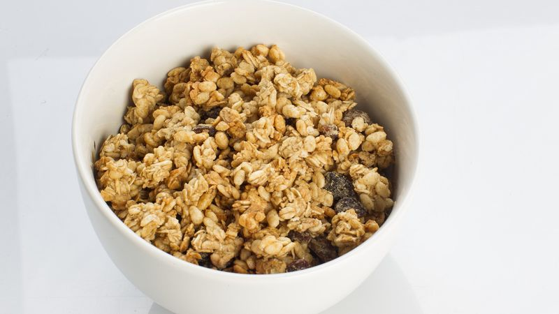 Chef Paul Short of Madison College demonstrates how to make granola from scratch.