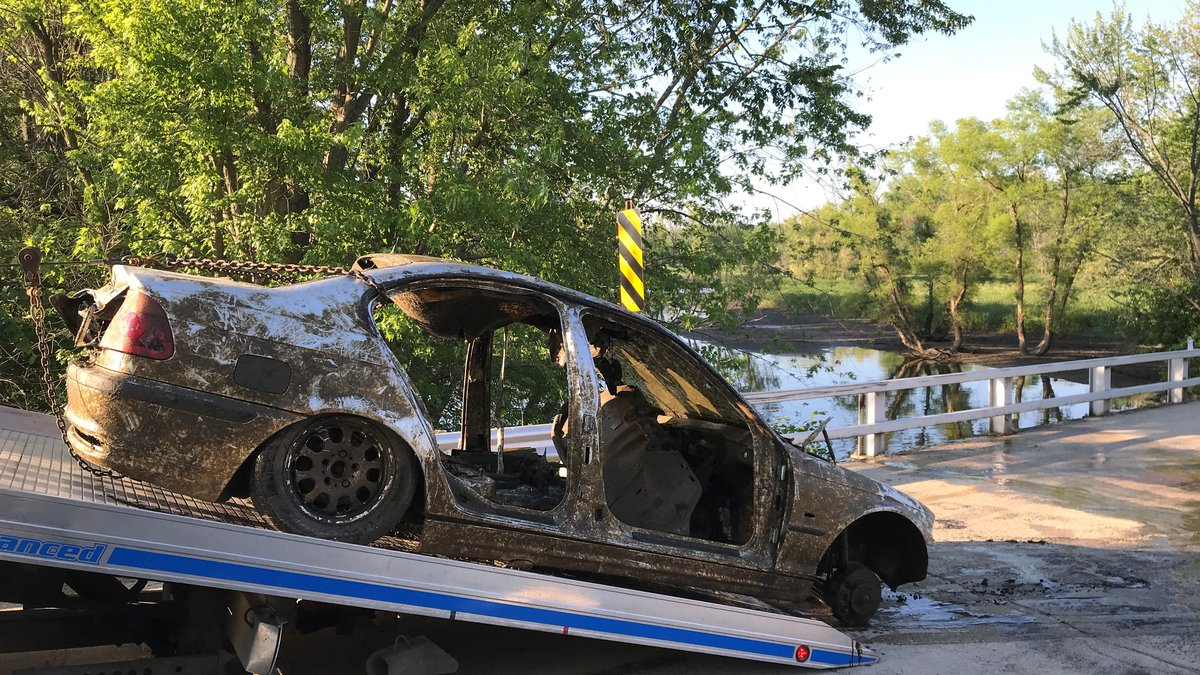 A vehicle was found submerged in the Rock River by Dodge County deputies Wednesday.