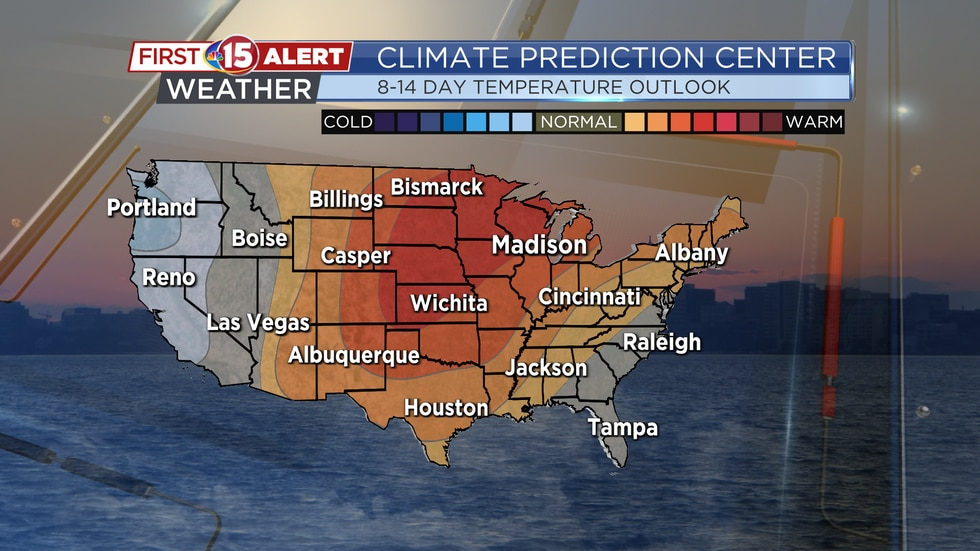 Above-average temperatures are likely for southern Wisconsin at the end of September/early...