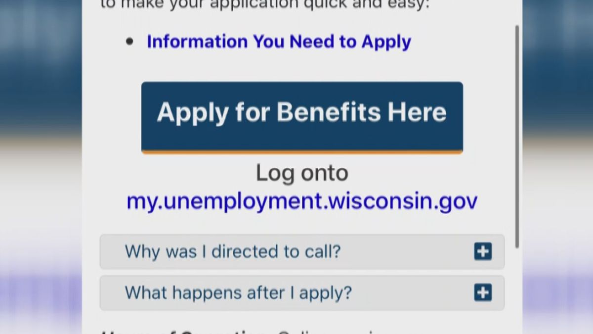 The Wisconsin Department of Workforce Development continues to receive high numbers of callers...