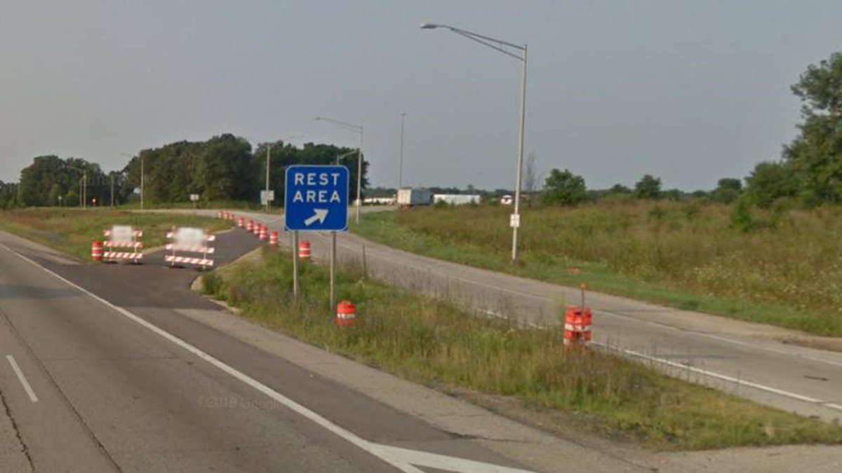 Exit for Janesville Rest Area. Courtesy: Google