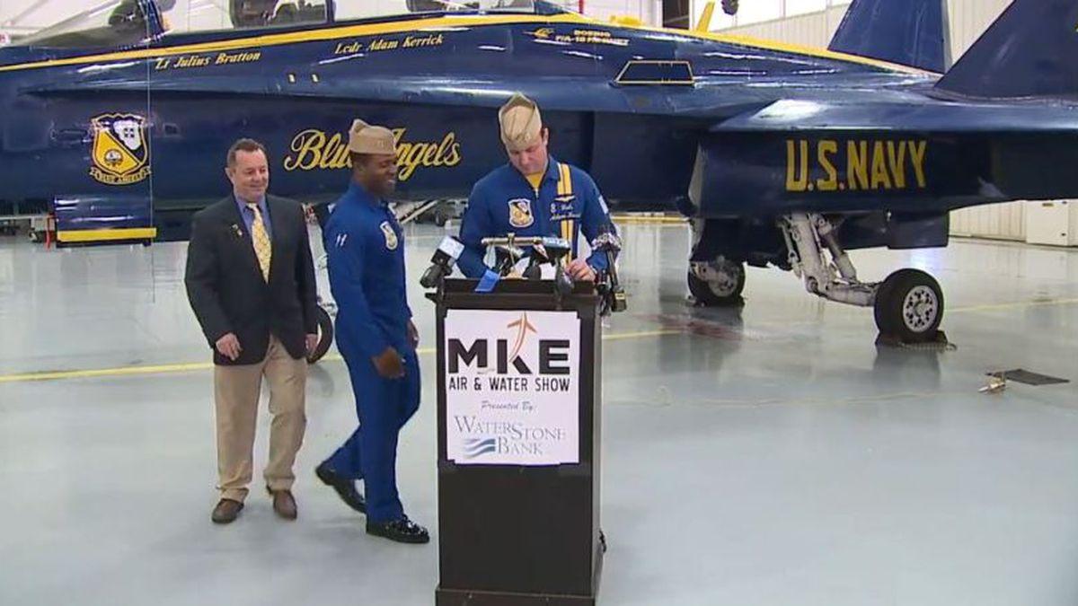 The U.S. Navy Blue Angels announce they will be returning to the Milwaukee Air & Water Show next year (Source: FOX6)