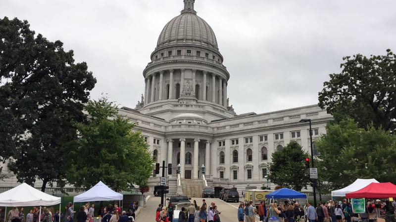 This Sept. 24, 2016 photo shows the Dane County Farmers' Market in Madison, Wis.,...