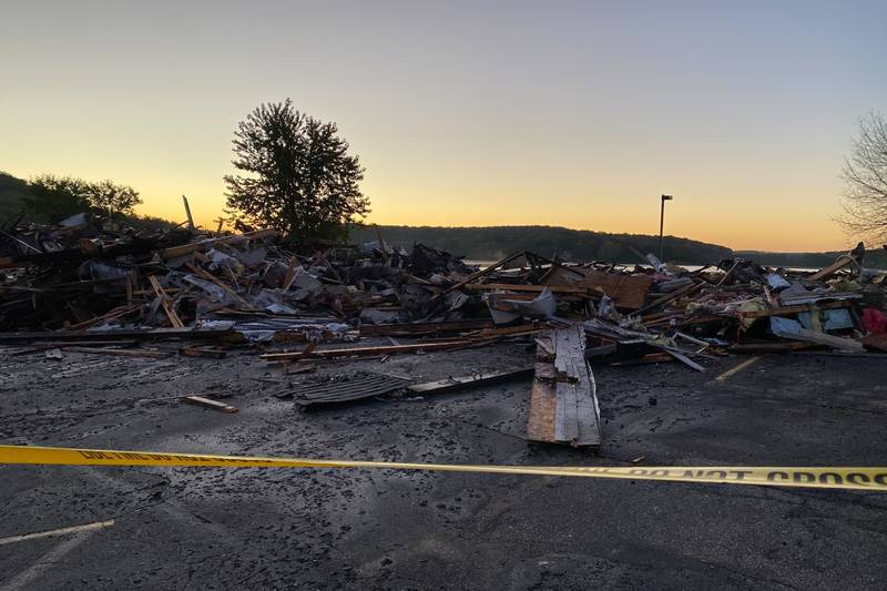 A fire at Lucky's Bridge Motel in Okee near Lodi Sunday night has destroyed the building.