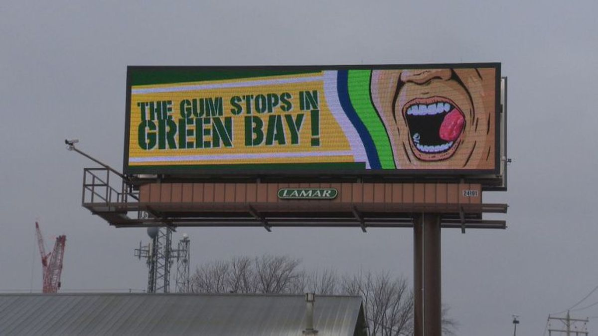 Some Lamar Advertising billboards in the Green Bay area show a design taking aim at Seattle Seahawks' coach Pete Carroll, January 10, 2020. The Seahawks are in town for a playoff game Sunday. (WLUK)