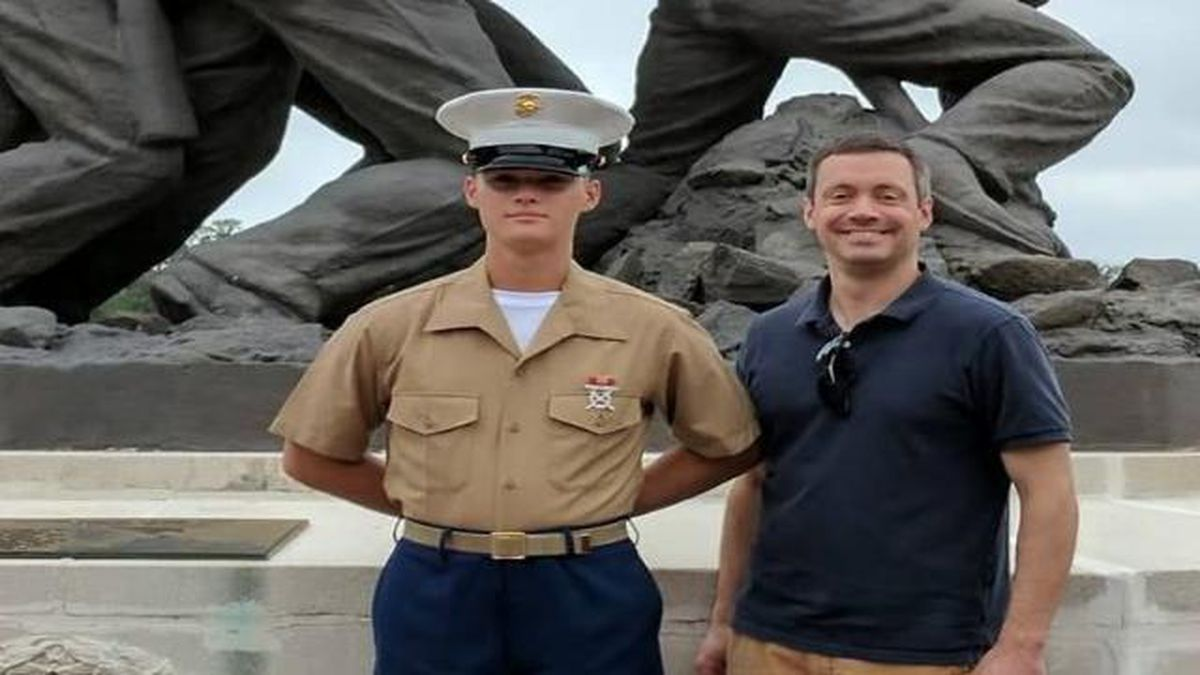 Marine PFC Ethan Andrew Barclay-Weberpal<br />Due to breaking news, we do not have copyright...