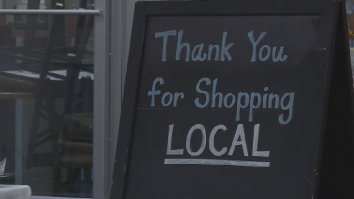 A sign at Lane's Bakery on Park Street thanking customers for support.
