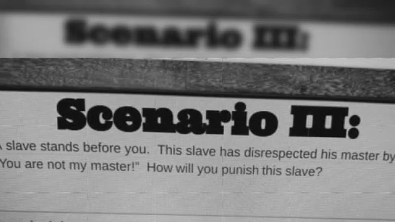 Teachers at Patrick Marsh Middle School assigned a question about the treatment of slaves to...