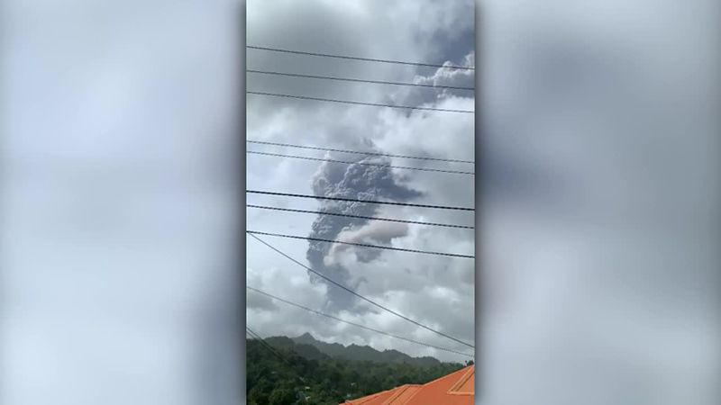 A second strong volcanic eruption rocked St. Vincent and the Grenadines on Friday. (Source: CNN...