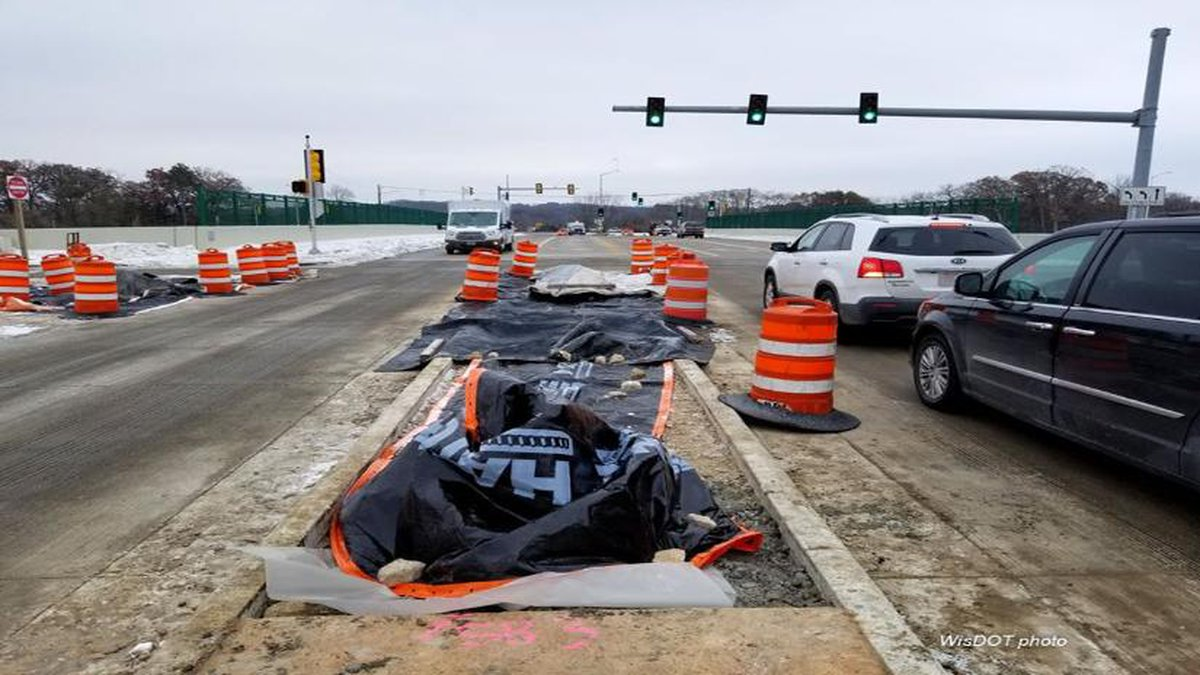 Traffic signals will be installed at the Williamsburg Way interchange ramps on Thursday. Photo...