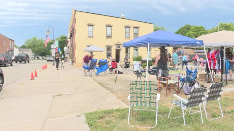 The first Mazo Music & Street Market took place on Thursday.