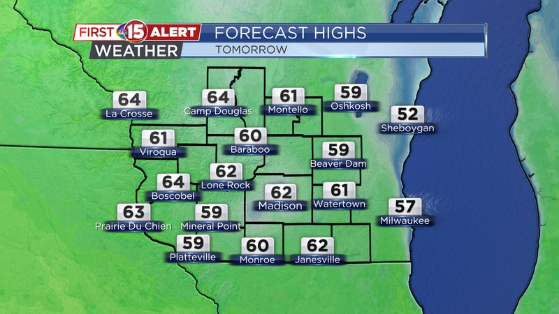 High Temperatures - Tuesday
