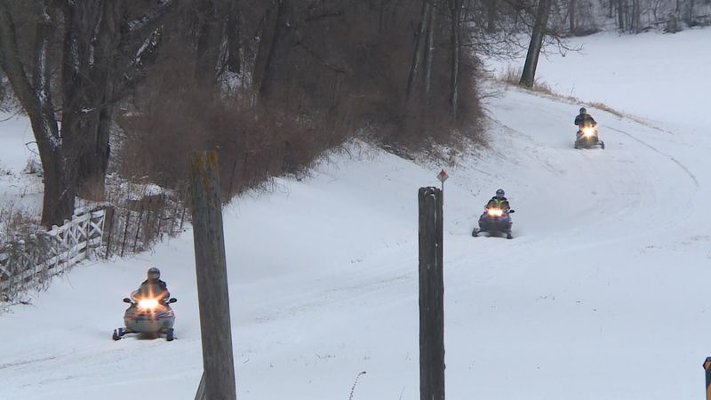 Snow blanket allows for portion of Dane Co. snowmobile trails to open