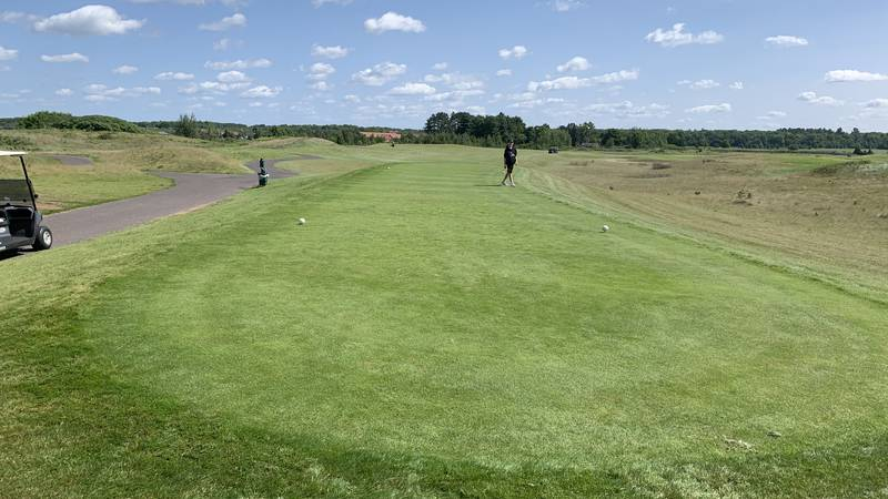 The fifth hole where the golfers were struck by lightning.