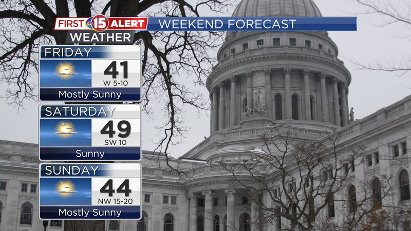 Mild temperatures and lots of sunshine expected through the holiday weekend.