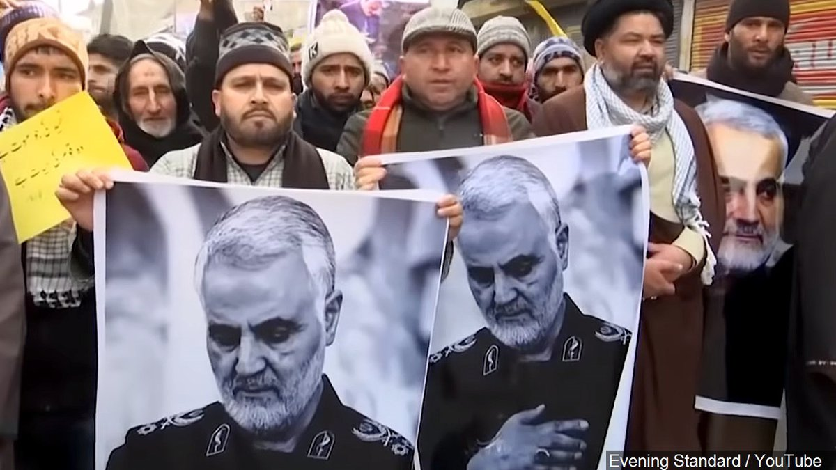 Protest after Iran's General Qasem Soleimani Killed in Kashmir | Photo: Evening Standard /...