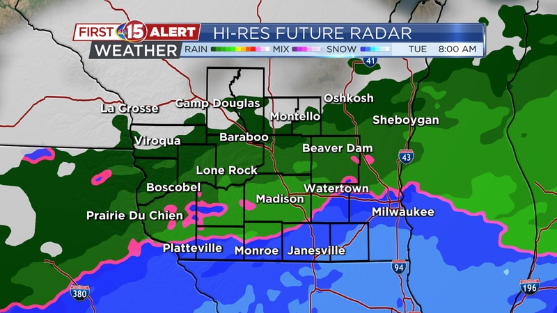 Tuesday Wintry Mix