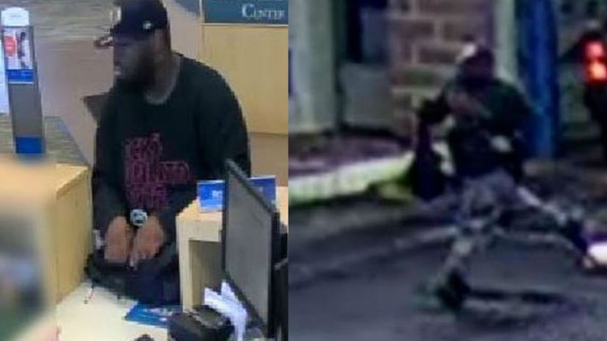 Surveillance images of BMO Harris Bank robbery suspect on Sept. 10, 2019.