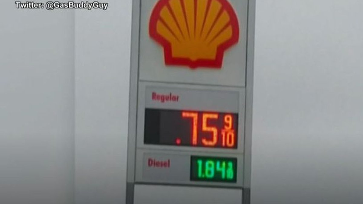 The price of gas fell to just 75 cents per gallon, the lowest in Wisconsin, at the Francis...
