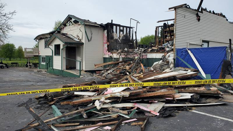 There's not much left to salvage after a massive fire tore through the Cole Acres Golf and...