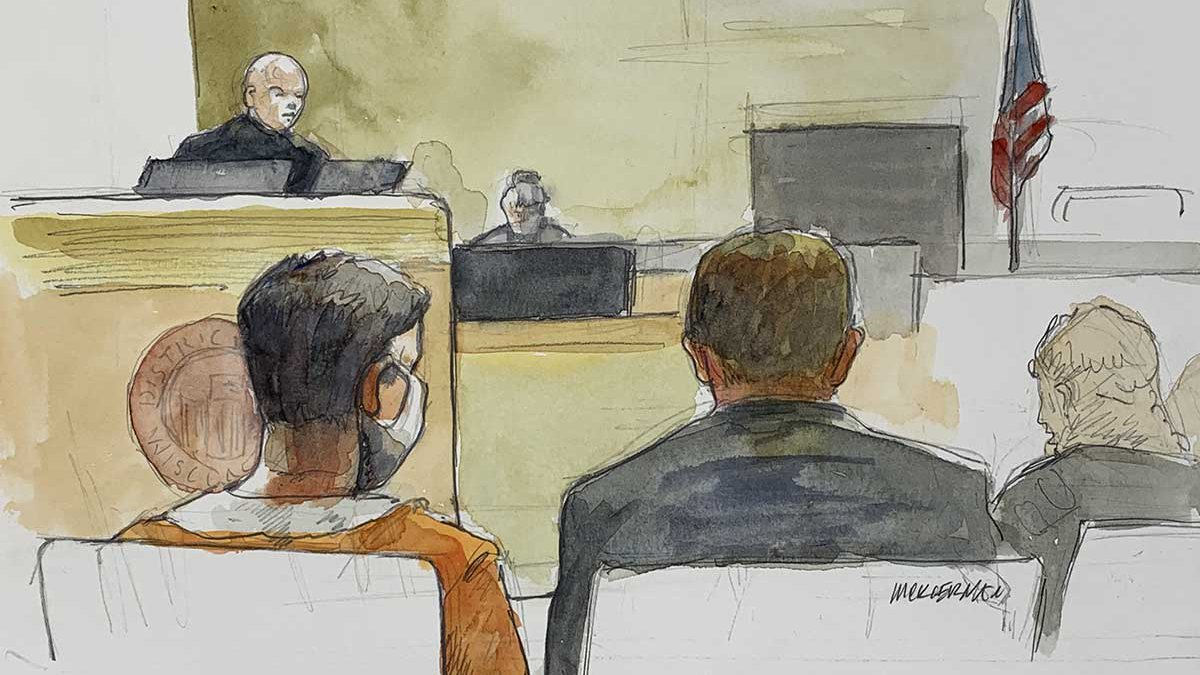 David M. Kruchten appears in federal court Monday.