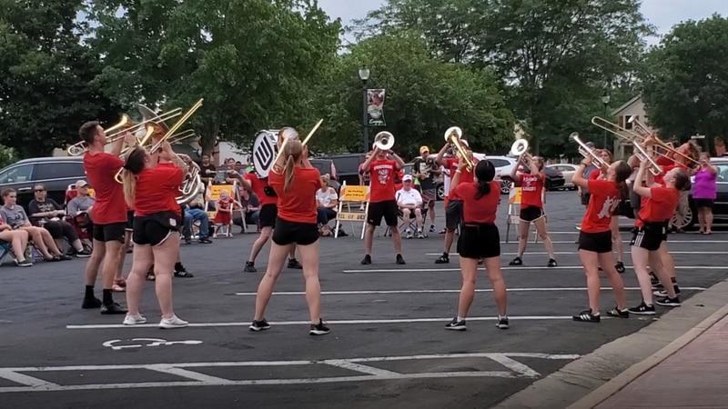 Badger Band plays at Concert on Market Street