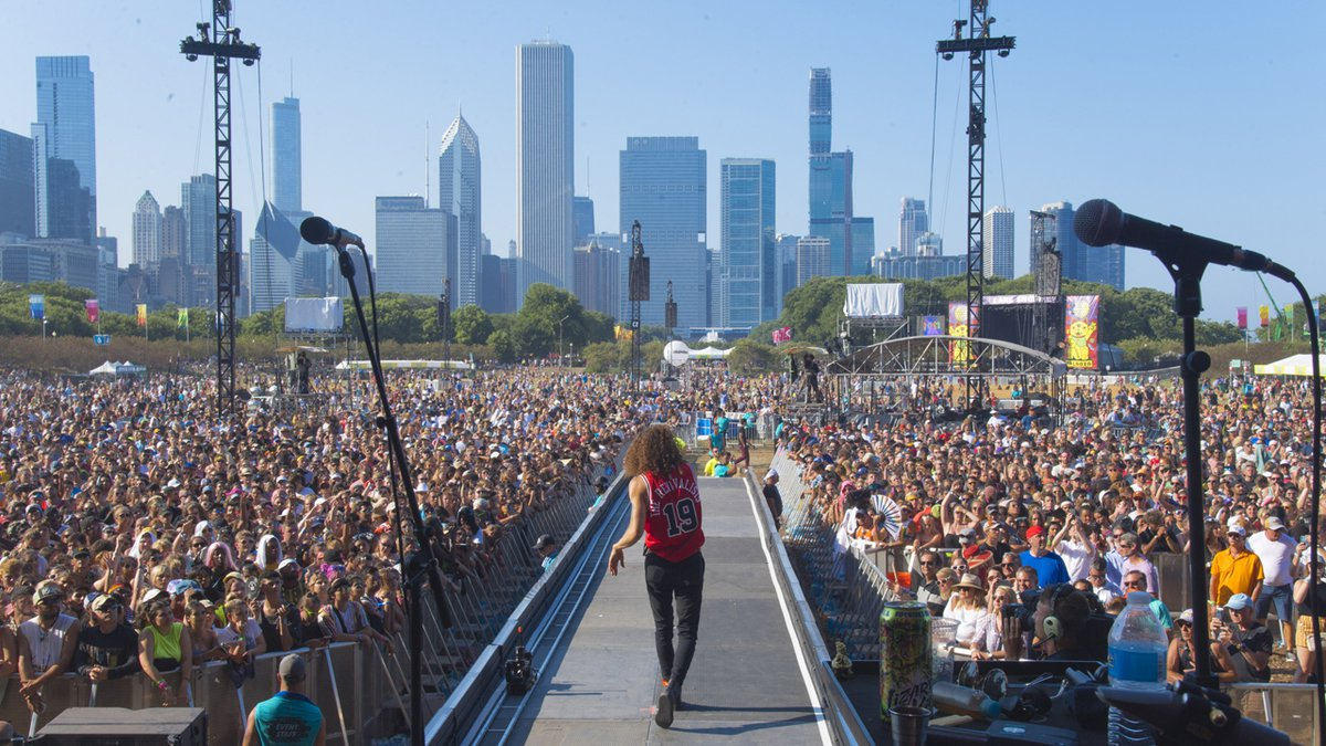 David Shaw of The Revivalists performs on day four of Lollapalooza in Grant Park on Sunday,...