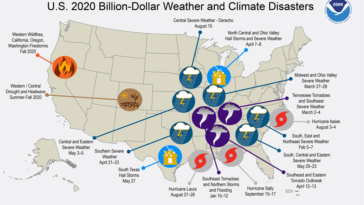 As of October 7th, sixteen billion-dollar weather/climate disasters have impacted the United...