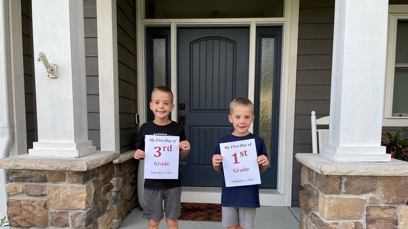 Angie Shea's two sons start school in the Middleton-Cross Plains Area School District.