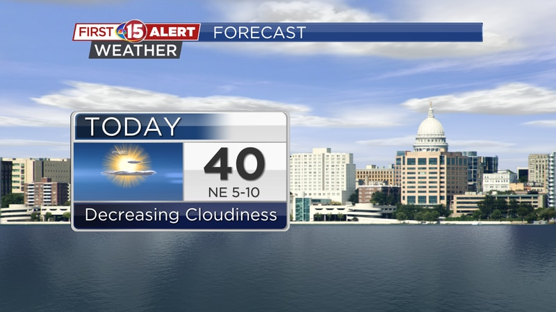 More sunshine is on the way but temperatures will drop off a bit today.