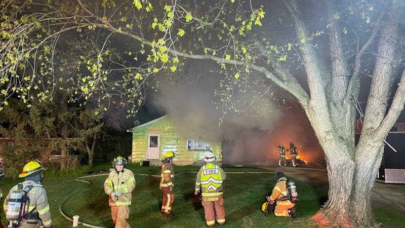 Two residents are safe after garage fire in Columbia County.